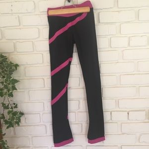 Pants - Black and Pink Workout Leggings